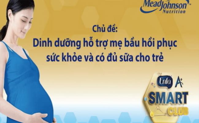 [VIDEO] Dinh dưỡng hỗ trợ mẹ bầu phục hồi sức khỏe và có đủ sữa cho trẻ